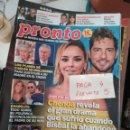 Coleccionismo de Revista Pronto: REVISTA PRONTO 2370* BUSTAMANTE Y CHENOA + CHABELITA + ELSA PATAKY + CRISTINA PEDROCHE * 61. Lote 160583858