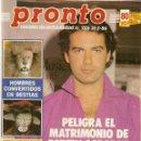 Coleccionismo de Revista Pronto: PRONTO 725 BERTIN OSBORNE MADONNA LOLA FLORES ROSARIO MARILYN MONROE ELVIS PRESLEY JIMENEZ DEL OSO. Lote 160620734
