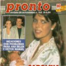 Coleccionismo de Revista Pronto: PRONTO Nº 745 CAROLINA DE MONACO MIGUEL BOSE ESTEFANIA DE MONACO MARLE DIETRICH BARBARA REY QUEEN. Lote 160624830
