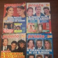 Coleccionismo de Revista Pronto: LOTE REVISTA PRONTO. Lote 160975558