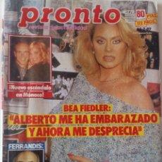 Coleccionismo de Revista Pronto: PRONTO Nº 773 BEA FIEDLER ROCIO JURADO ANTONIO FERRANDIS VICTORIA VERA ELENA SANTONJA NORMA DUVAL. Lote 161445922