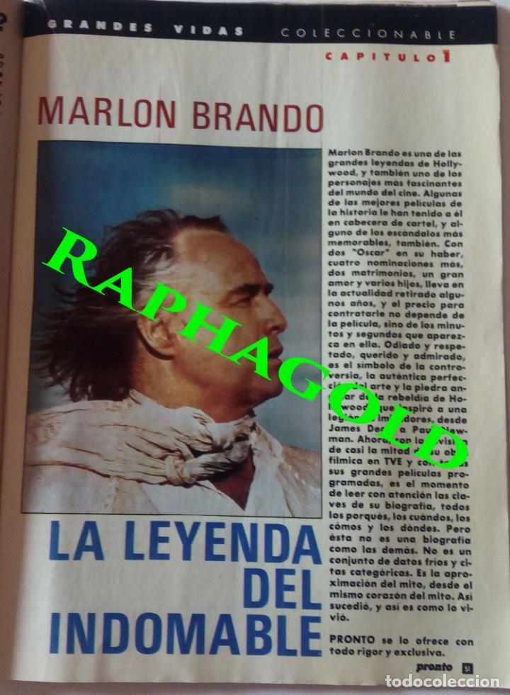 Coleccionismo de Revista Pronto: Revista Pronto nº 817 Lola Flores Ana Belen Marlon Brando El Lute Melodie Nakachian Kimera - Foto 5 - 161897570