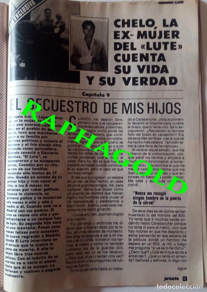 Coleccionismo de Revista Pronto: Revista Pronto nº 817 Lola Flores Ana Belen Marlon Brando El Lute Melodie Nakachian Kimera - Foto 6 - 161897570