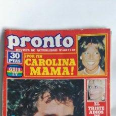 Coleccionismo de Revista Pronto: REVISTA PRONTO N 400. Lote 163424806