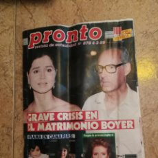Coleccionismo de Revista Pronto: REVISTA PRONTO NÚMERO 878AÑO 89. Lote 164071418