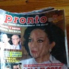 Coleccionismo de Revista Pronto: 23 REVISTAS PRONTO AÑO 1987 LEER ANTES DE COMPRAR. Lote 165754348