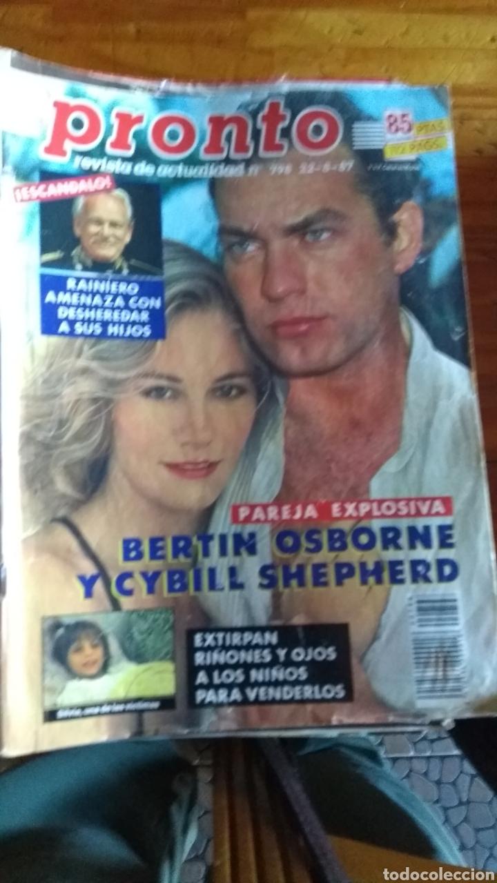 Coleccionismo de Revista Pronto: 23 revistas pronto año 1987 leer antes de comprar - Foto 8 - 165754348