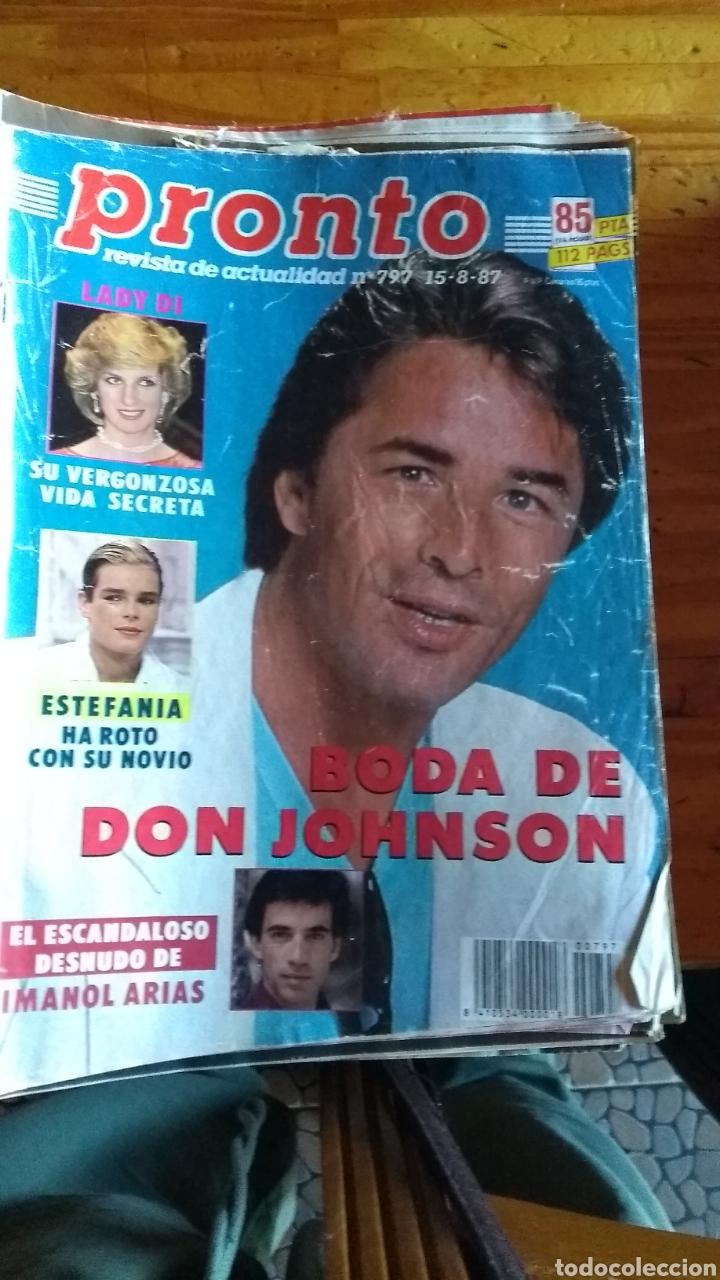 Coleccionismo de Revista Pronto: 23 revistas pronto año 1987 leer antes de comprar - Foto 9 - 165754348