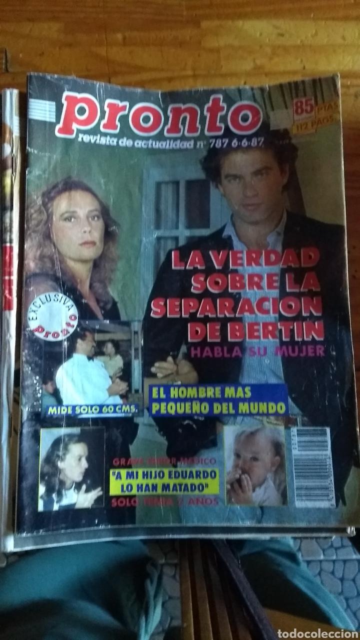 Coleccionismo de Revista Pronto: 23 revistas pronto año 1987 leer antes de comprar - Foto 11 - 165754348