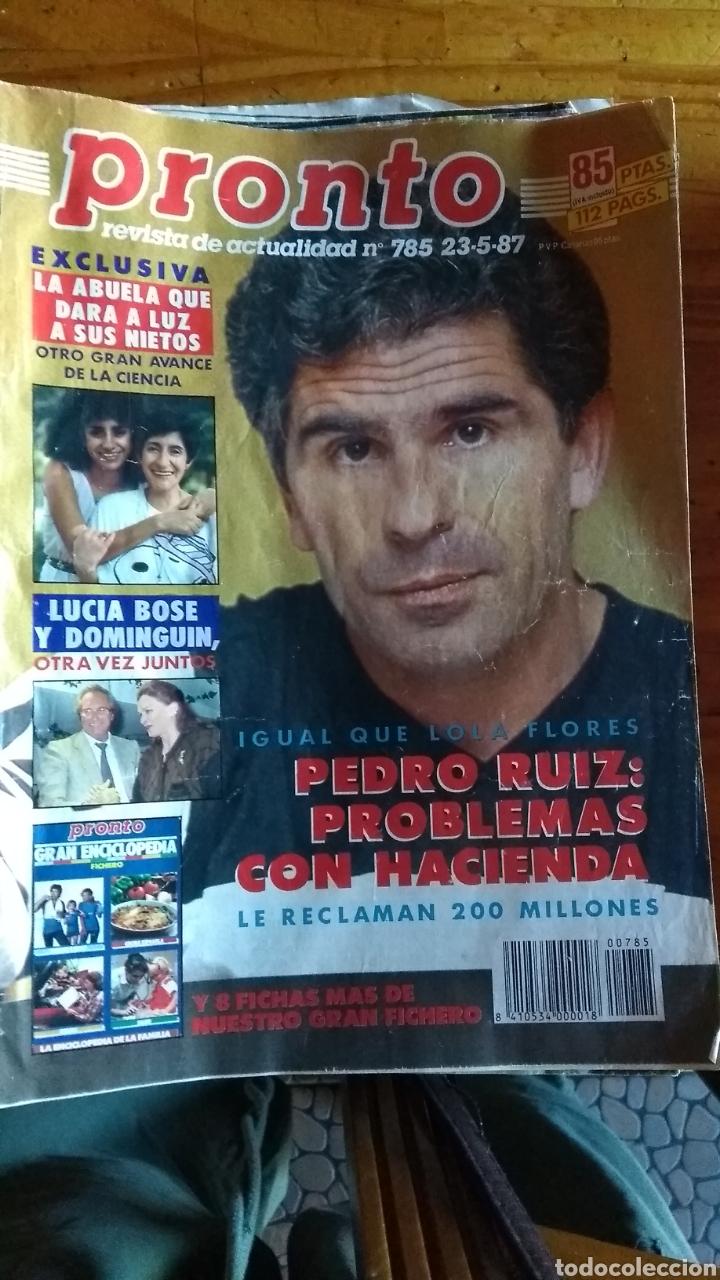 Coleccionismo de Revista Pronto: 23 revistas pronto año 1987 leer antes de comprar - Foto 12 - 165754348