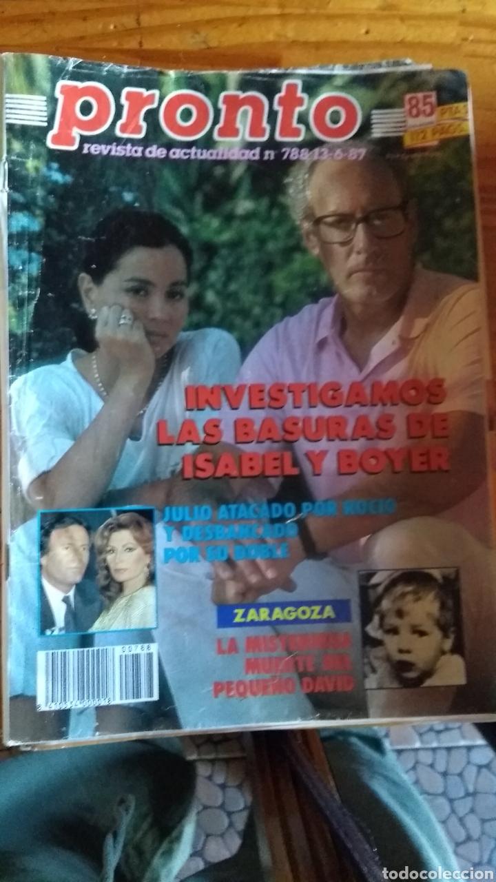 Coleccionismo de Revista Pronto: 23 revistas pronto año 1987 leer antes de comprar - Foto 21 - 165754348