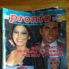 Coleccionismo de Revista Pronto: 17 REVISTAS PRONTO 1988 LEER ANTES DE COMPRAR. Lote 165755349