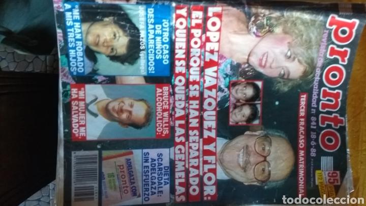 Coleccionismo de Revista Pronto: 17 revistas pronto 1988 leer antes de comprar - Foto 6 - 165755349