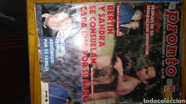 Coleccionismo de Revista Pronto: 17 revistas pronto 1988 leer antes de comprar - Foto 16 - 165755349