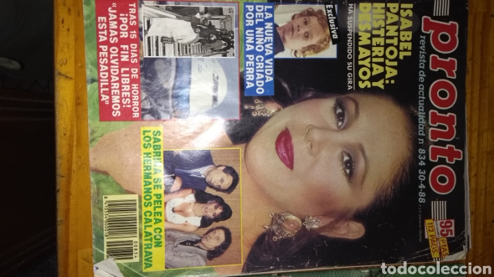 Coleccionismo de Revista Pronto: 17 revistas pronto 1988 leer antes de comprar - Foto 17 - 165755349