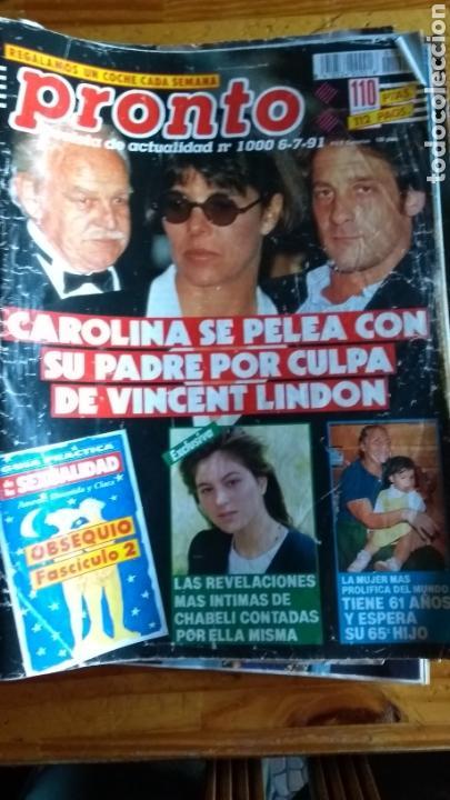 LOTE REVISTAS 15 PRONTO AÑO 1990.1991 LEER ANTES DE COMPRAR (Papel - Revistas y Periódicos Modernos (a partir de 1.940) - Revista Pronto)