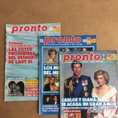 Coleccionismo de Revista Pronto: REVISTAS PRONTO LADI DY. Lote 166954813