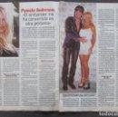 Coleccionismo de Revista Pronto: RECORTE REVISTA PRONTO Nº 1245 1996 PAMELA ANDERSON. 3 PGS. Lote 169170100