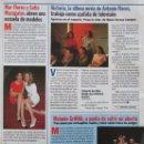 Coleccionismo de Revista Pronto: RECORTE REVISTA PRONTO Nº 1245 1996 MAR FLORES Y SOFIA MAZAGATOS. Lote 169170172