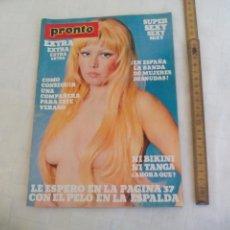 Coleccionismo de Revista Pronto: PRONTO EXTRA SEXY Nº 1 VERANO 1976 EXTRA SUPER SEXY RARA NUMERO UNO. Lote 171502028