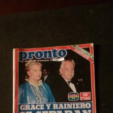 Coleccionismo de Revista Pronto: JULIO IGLESIAS-ROCIO DURCAL-CAROLINA DE MONACO-MARIA JOSE CANTUDO-MECANO-MASSIEL-MANOLO ESCOBAR. Lote 172421850