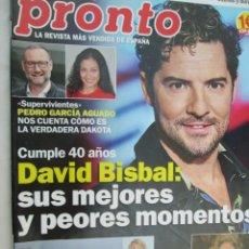 Coleccionismo de Revista Pronto: REVISTA PRONTO Nº 2457 - JUNIO 2019 - DAVID BISBAL, EL CORDOBÉS, ROCÍO CARRASCO... . Lote 172914245