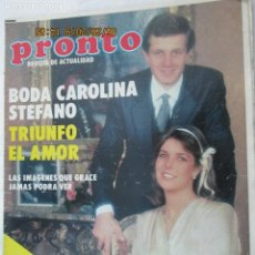 Coleccionismo de Revista Pronto: REVISTA PRONTO SUPLEMENTO ESPECIAL BODA CAROLINA DE MONACO .... Lote 172915557