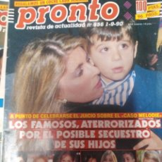 Coleccionismo de Revista Pronto: REVISTA PRONTO 956 MARTA CHÁVARRI, ISABEL PREYSLER 1990. Lote 173941567