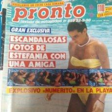 Coleccionismo de Revista Pronto: REVISTA PRONTO 959 ESTEFANÍA DE MÓNACO, BERTÍN OSBORNE, AMPLÍO REPORTAJE MADONNA 1990. Lote 173941690