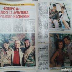 Coleccionismo de Revista Pronto: REPORTAJE DE SERIE DE EL EQUIPO A, A TEAM, DE LA REVISTA PRONTO 690 1985. Lote 173943058