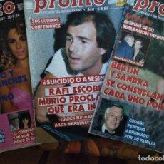 Coleccionismo de Revista Pronto: LOTE DE 2 REVISTAS PRONTO CON POSTERS VERANO ANA OBREGÓN, DANUTA,. Lote 174124648