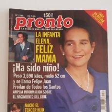 Coleccionismo de Revista Pronto: REVISTA PRONTO. Nº 1368. 25 JULIO1998. LA INFANTA ELENA FELIZ MAMA. TDKR64. Lote 174285359