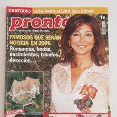Coleccionismo de Revista Pronto: REVISTA PRONTO. Nº1753. 14 ENERO 2016. FAMOSOS QUE SERÁN NOTICIA EN 2016. TDKR64. Lote 174285578