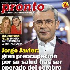 Coleccionismo de Revista Pronto: REVISTA PRONTO 2447 AÑO 2019. ANA OBREGON Y SU HIJO. JORGE JAVIER. RICKY MARTIN. REINA ISABEL.. Lote 180448692