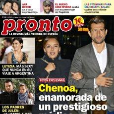 Coleccionismo de Revista Pronto: REVISTA PRONTO 2448. REINA LETIZIA SEXY. CHENOA ENAMORADA. RAQUEL SILVA VINCULADA DROGAS. Lote 180448715