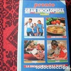 Coleccionismo de Revista Pronto: REVISTA PRONTO LA ENCICLOPEDIA DE LA FAMILIA. Lote 177130782