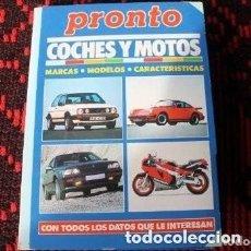 Coleccionismo de Revista Pronto: DE LA REVISTA PRONTO - COCHES Y MOTOS. Lote 177131424