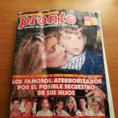 Coleccionismo de Revista Pronto: PRONTO 956. Lote 180293410