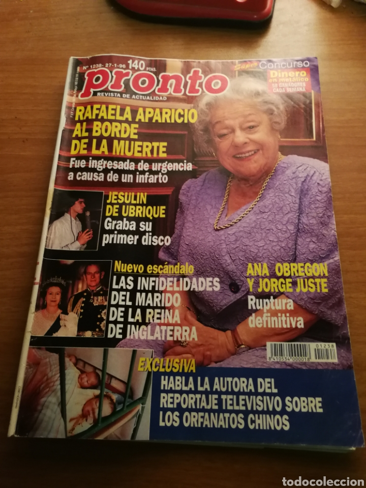 PRONTO 1238 (Papel - Revistas y Periódicos Modernos (a partir de 1.940) - Revista Pronto)