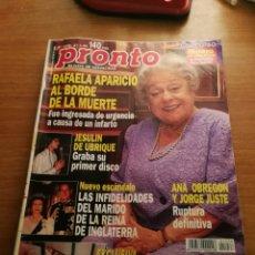 Coleccionismo de Revista Pronto: PRONTO 1238. Lote 180297082