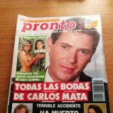 Coleccionismo de Revista Pronto: REVISTA PRONTO 962. Lote 180443622