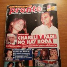 Coleccionismo de Revista Pronto: REVISTA PRONTO 952. Lote 180457162