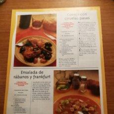 Coleccionismo de Revista Pronto: SUPLEMENTO PRONTO LA COCINA DE LAS ESTACIONES. RECETAS. Lote 180847148