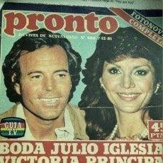 Coleccionismo de Revista Pronto: REVISTA PRONTO 500 JULIO IGLESIAS, ISABEL PREYSLER 1981. Lote 181438575