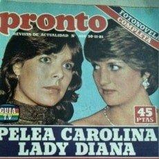 Coleccionismo de Revista Pronto: REVISTA PRONTO 499 CAROLINA DE MÓNACO Y LADY DI, SARA MONTIEL 1981. Lote 181438646