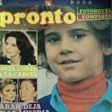 Coleccionismo de Revista Pronto: REVISTA PRONTO 438 SOFÍA LOREN, CAMILO SESTO EN APLAUSO, LOLO GARCÍA 1980. Lote 181533720
