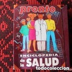 Coleccionismo de Revista Pronto: REVISTA PRONTO ENCICLOPEDIA DE LA SALUD ( COMPLETA). Lote 181607231