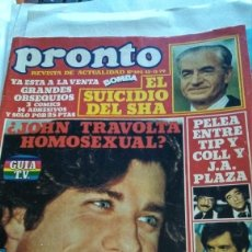 Coleccionismo de Revista Pronto: REVISTA PRONTO 392 DE 1979 JOHN TRAVOLTA, PAQUITA RICO, ROCKY SHARPE AND THE REPLAYS. Lote 181636901