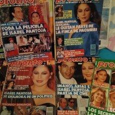 Coleccionismo de Revista Pronto: LOTE REVISTAS PRONTO 1990 CON PORTADA DE ISABEL PANTOJA. Lote 181827601