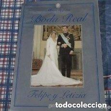 Coleccionismo de Revista Pronto: ALBUM DE FOTOGRAFIA DE LA BODA DEL REY. Lote 181900191